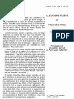 Alexandre Kojève et Tran-Duc-Thao, Correspondance inédite
