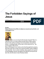 The Forbidden Sayings of Jesus