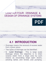 Drainage and Design of Drainage Systems