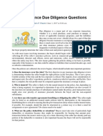 9 Key Insurance Due Diligence Questions