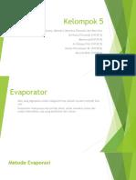 Evaporator, Kristalisasi, Adsorbsi, Absorbsi, Ekstraksi dan Alat Ukur