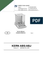 Kern ABS-ABJ Analytical Balances - Service Manual