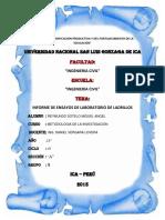 Informe de Ensayo de Laboratorio - Ladrillo.