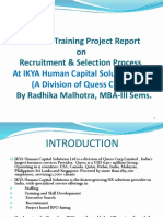 Presentation on Recruitment