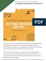 5 Ejercicios Para Mejorar Tu Precisión Rítmica y Tu Sensación - Aprende Los Estándares de Jazz