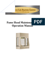 Fume Hood Operations Manual