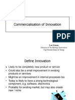 Commercialisation of Innov
