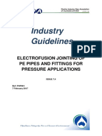 Electrofusion Jointing of Pe Pipe and Fittings for Pressure Applications