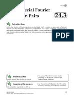 24 3 Special Fourier Trnsform Pairs