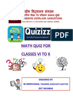 646853052math Quiz for Classes Vi to x