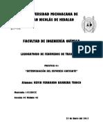 DETERMINACIÓN DEL ESFUERZO CORTANTE