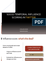 Socio-temporal Influence Scoring in Twitter (Presentation)
