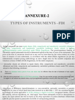 FDI Type of Instrument and Provision
