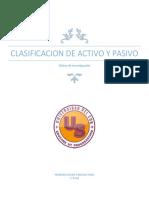 Clasificacion de Activo y Pasivo