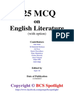 525 MCQ on English Literature (With Option) 2
