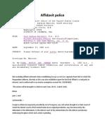 Affidavit Police