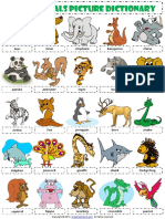 wild animals picture dictionary esl vocabulary worksheet.pdf