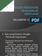 Sistem Pendukung Pengambilan Keputusan