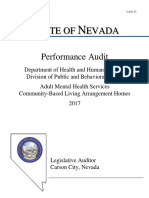 Audit of Community-Based Living Arrangement Homes
