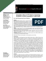 Immediate effect of M2T blade on hamstring flexibility in elderly population  a pilot study