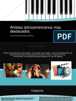 Artistas Latinoamericanos Mas Destacados [Recuperado]
