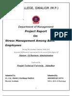 Stress Management Project Pdf