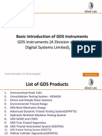 Introduction of GDS Instruments
