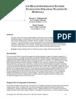 2an Integrative Health Information Systems Approach for Facilitating Strategic Planning in Hospitals Killingsworth & Seeman