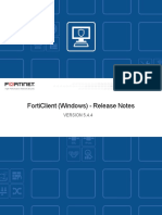 Forticlient 5.4.4 Windows Release Notes