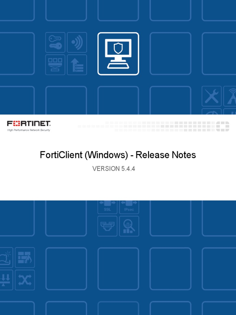 Forticlient 5 4 4 Windows Release Notes   Transport Layer Security