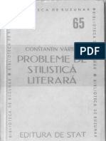 Probleme de stilistica literara