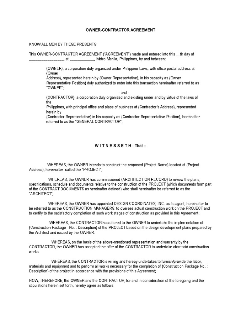 Owner contractor agreement arbitration surety bond platinumwayz