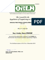 COREN Practising Licence (Id - 39084)