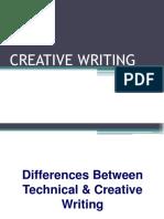 Creative Writing vs. Technical Writing