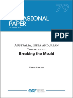 Australia, India & Japan Trilateral Breaking the Mould