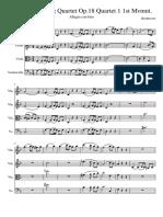 Beethoven String Quartet Op. 18 Quartet 1 1st Mvmnt.