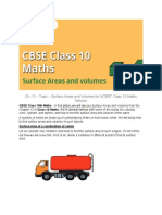 Ch -13 - Topic - Surface Areas and Volumes NCERT Class 10 Maths Solution .
