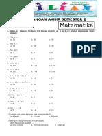 Soal UAS Matematika Kelas 2 SD Semester 2 Dan Kunci Jawaban