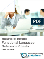 Business Email - Functional Language Reference Sheets