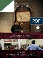 Slides - Revista 500 Anos de Reforma Protestante - Lição 13