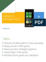 6.3 Games on Windows Phone