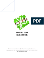 Rulebook Simpic2018