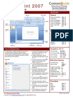 Powerpoint 2007 Quick Reference