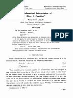 Math Interpretation of Dirac