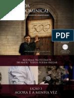 Slides - Revista 500 Anos de Reforma Protestante - Lição 3