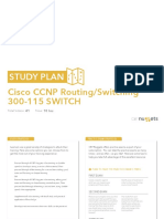 Study Plan Cisco CCNP Routing Switching 300 115 SWITCH