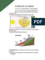 Los Climas de La Tierra Resumen