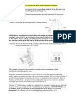 The Instruction for the Mounting and Operation of the Voltage Instrument Transformers