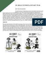 AQMF Martian Force List