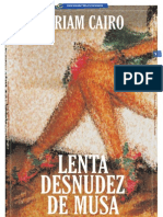 LENTA DESNUDEZ DE MUSA_Por Miriam Cairo